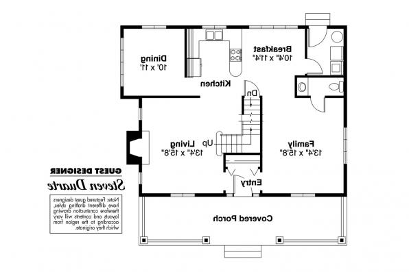 Craftsman House Plan - Absecon 41-011 - 1st Floor Plan