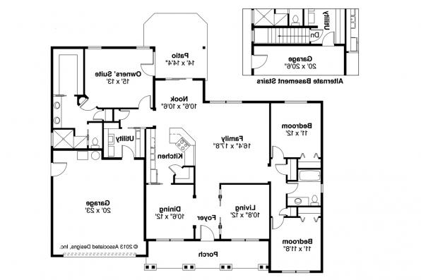 Craftsman House Plan - Adrian 30-511 - Floor Plan