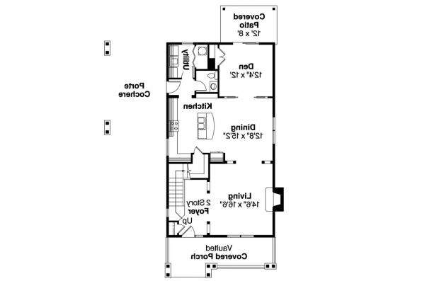 Craftsman House Plan - Alderdale 30-573 - 1st Floor Plan