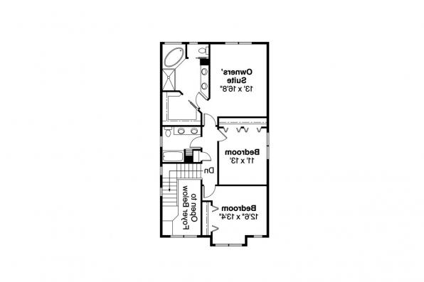 Craftsman House Plan - Alderdale 30-573 - 2nd Floor Plan