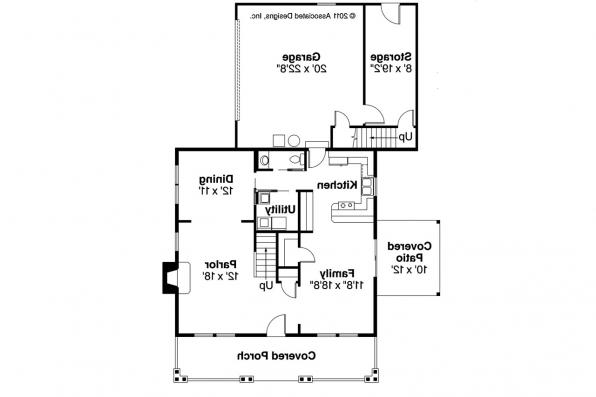 Craftsman House Plan - Ambridge 10-323 - 1st Floor Plan