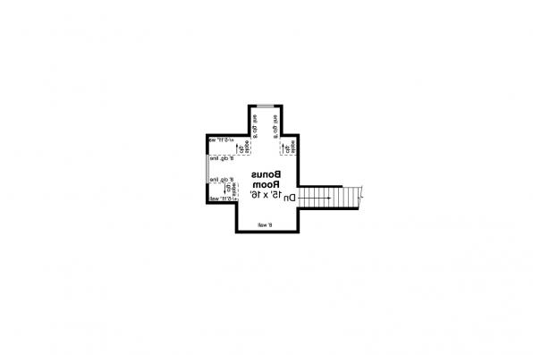Craftsman House Plan - Azalea 31-028 - Bonus Room