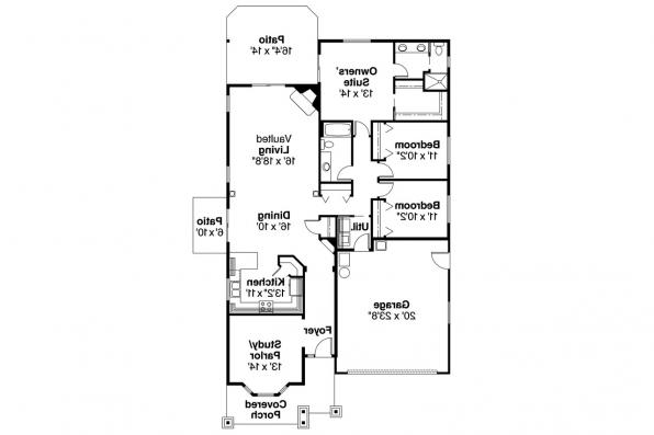 Craftsman House Plan - Bergstrom 30-206 - Floor Plan