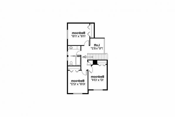 Craftsman House Plan - Bigsby 30-642 - 2nd Floor Plan