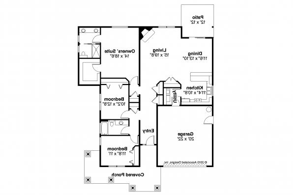 Craftsman House Plan - Carlton 30-896 - Floor Plan