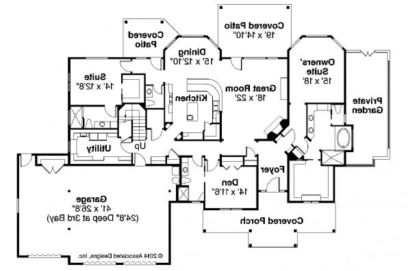 Craftsman House Plan - Cedar Creek 30-916 - First Floor Plan