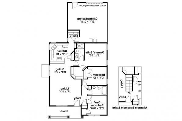 Craftsman House Plan - Cleveland 30-105 - Left Elevation