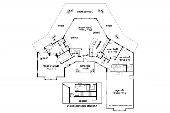 Craftsman House Plan - Eddinger 30-328 - Floor Plan