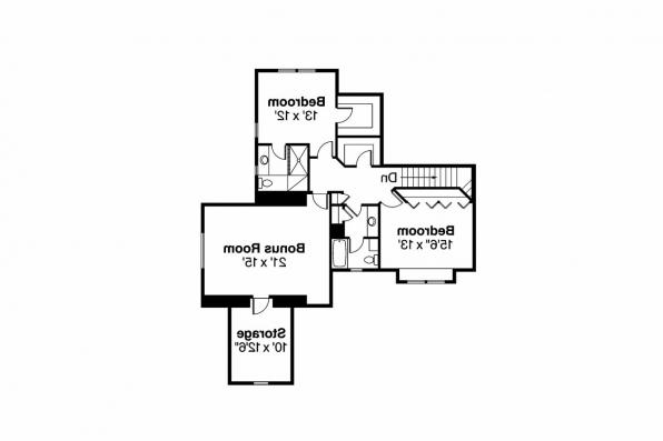 Craftsman House Plan - Etheridge 30-716 - 2nd Floor Plan