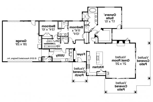 Craftsman House Plan - Heartfall 10-620 - First Floor Plan
