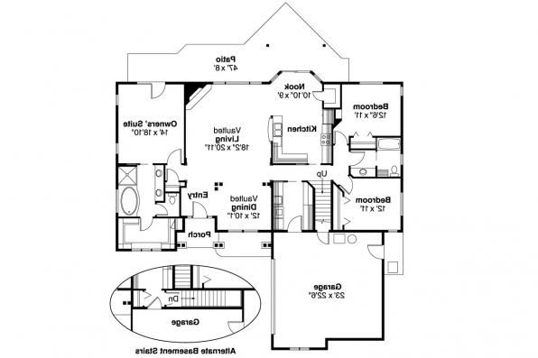 Craftsman House Plan - Heartfield 30-400 - 1st Floor Plan