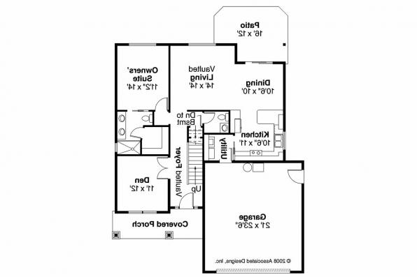 Craftsman House Plan - Holshire 30-635 - 1st Floor Plan