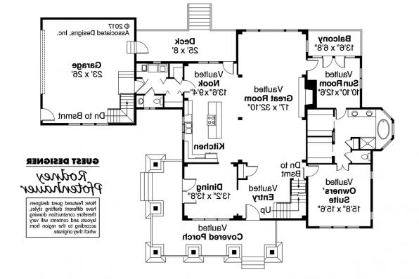 Craftsman House Plan - Huntington 42-017 - 1st Floor Plan