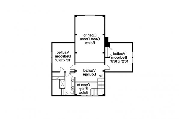 Craftsman House Plan - Huntington 42-017 - 2nd Floor Plan