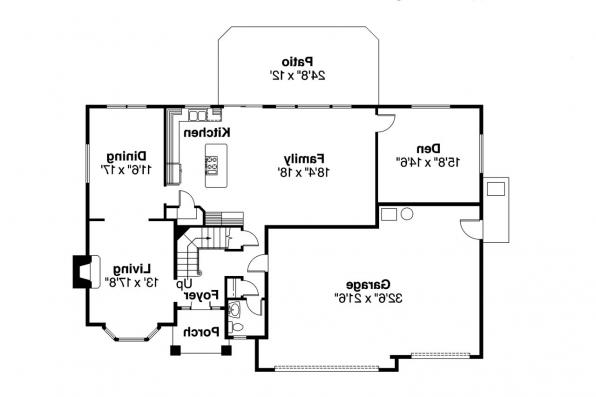 Craftsman House Plan - Masterson 30-455 - 1st Floor Plan