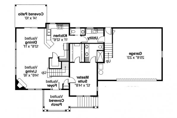 Craftsman House Plan - Mathis 30-475 - 1st Floor Plan