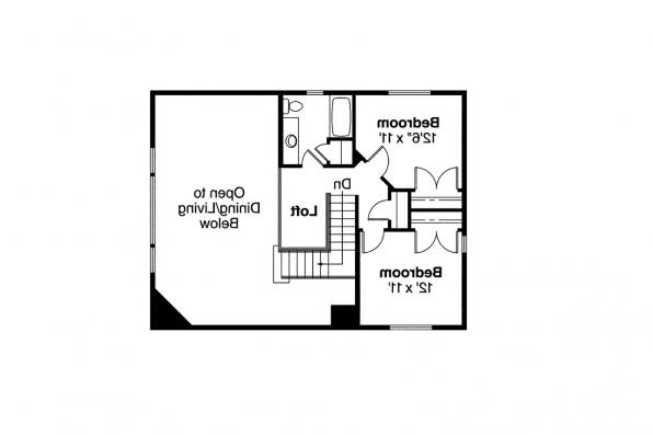 Craftsman House Plan - Mathis 30-475 - 2nd Floor Plan