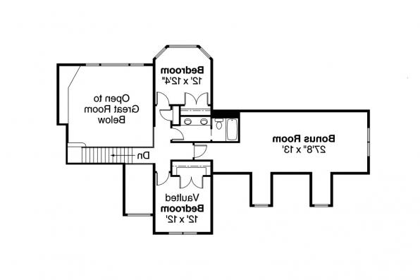 Craftsman House Plan - Montego 30-612 - 2nd Floor Plan
