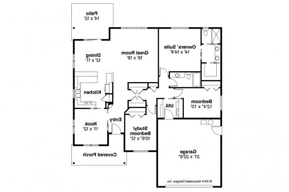craftsman house plan pineville 30 937 floor plan