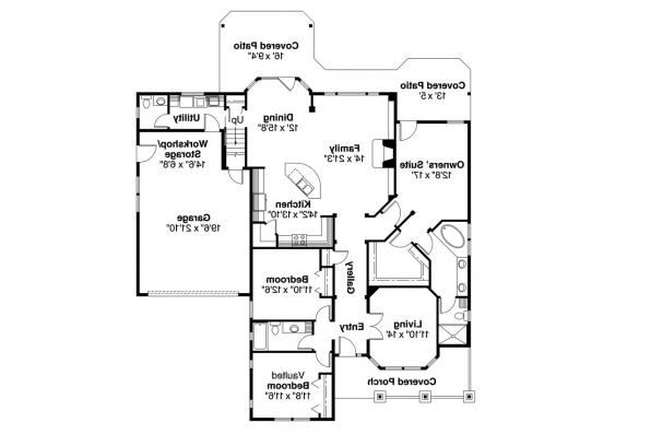 Craftsman House Plan - River Glen 30-223 - 1st Floor Plan