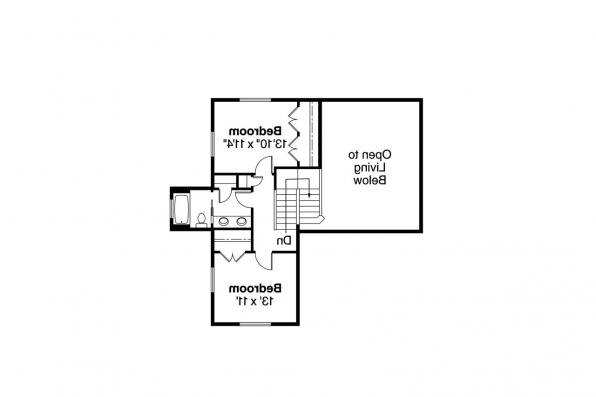 Craftsman House Plan - Roosevelt 30-603 - 2nd Floor Plan
