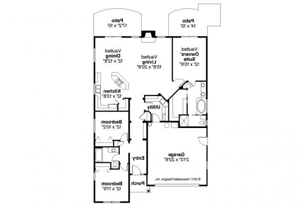 Craftsman House Plan - Russellville 30-724 - Floor Plan