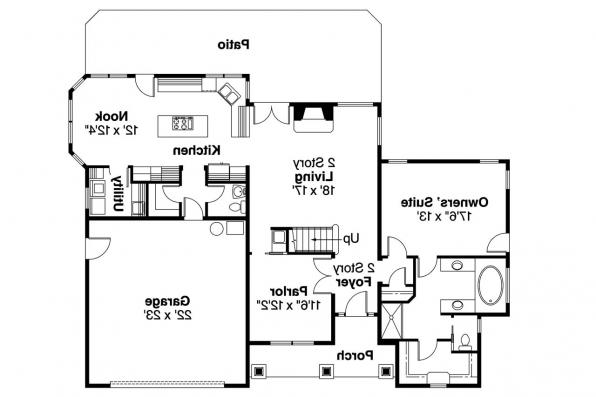 Craftsman House Plan - Scarborough 30-530 - 1st Floor Plan