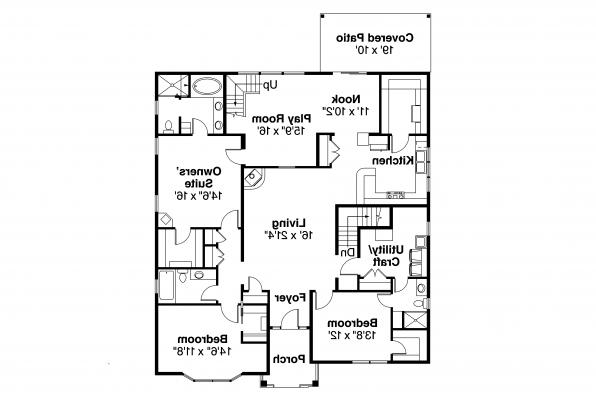 Craftsman House Plan - Springvale 30-950 - First Floor Plan
