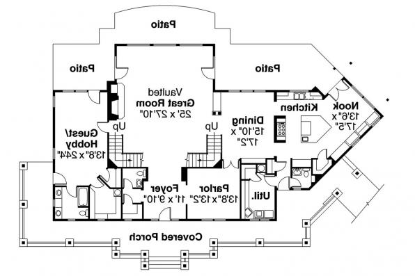 Craftsman House Plan - Summerfield 30-611 - 1st Floor Plan