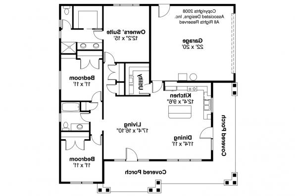 Craftsman House Plan - Tealwood 30-440 - Floor Plan