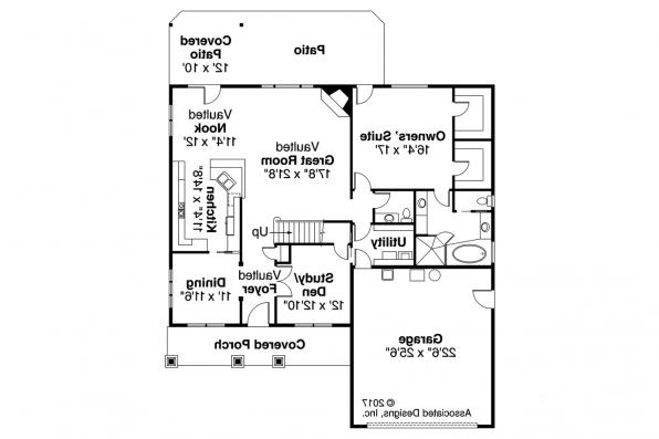 Craftsman House Plan - Wilsonville 30-517 - 1st Floor Plan