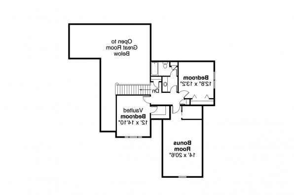 Craftsman House Plan - Wilsonville 30-517 - 2nd Floor Plan