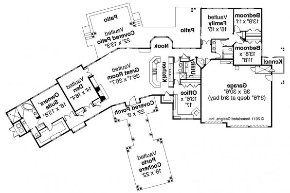 Craftsman House Plan - Woodcliffe 30-715 - Floor Plan