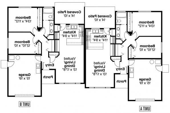 Duplex Plan - Ackerman 60-011 - Floor Plan
