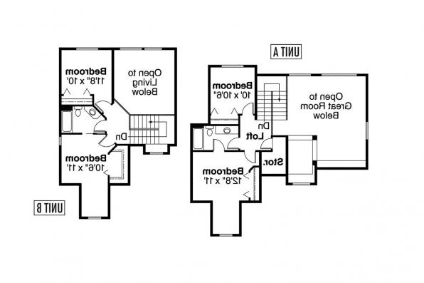 Duplex Plan - Carmichael 60-014 - 2nd Floor Plan