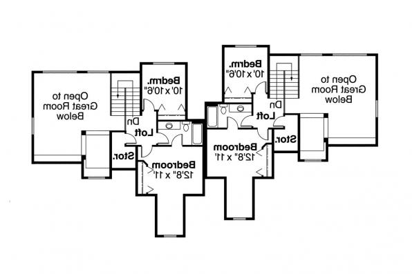 Duplex Plan - Kirkwood 60-013 - 2nd Floor Plan