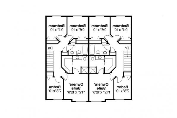 Duplex Plan - Toliver 60-020 - 2nd Floor Plan