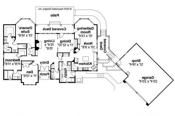 European House Plan - Applegate 10-403 - Floor Plan