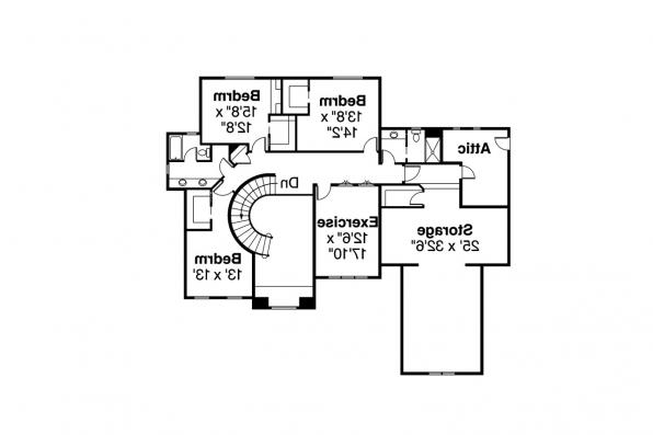 European House Plan - Avalong 30-306 - 2nd Floor Plan