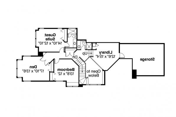 European House Plan - Brinton 30-178 - 2nd Floor Plan