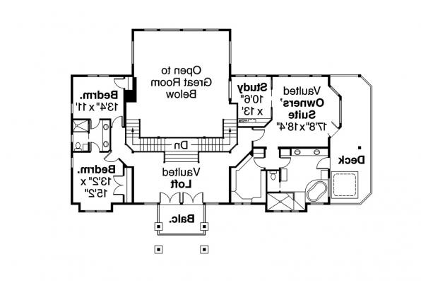 European House Plan - Brynwood 30-340 - 2nd Floor Plan