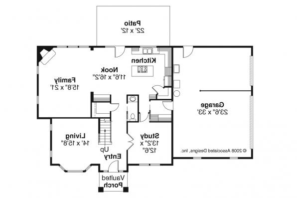 European House Plan - Cartwright 30-556 - 1st Floor Plan