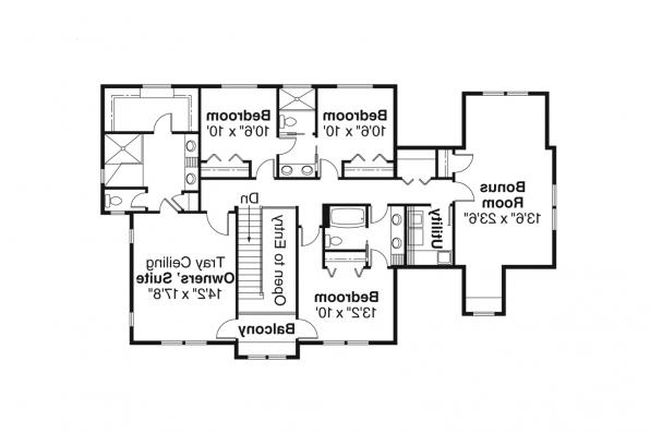European House Plan - Cartwright 30-556 - 2nd Floor Plan