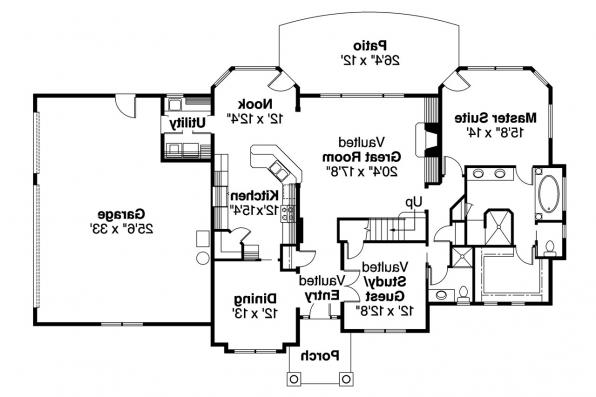 European House Plan - Crestwick 30-425 - 1st Floor Plan