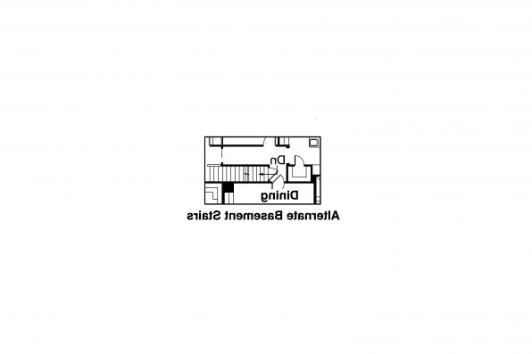 European House Plan - Edgewood 30-313 - Alternate Basement Option