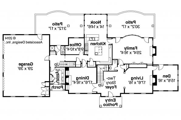 European House Plan - Edgewood 30-313 - First Floor Plan