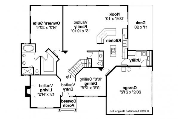 European House Plan - Lafayette 10-156 - 1st Floor Plan