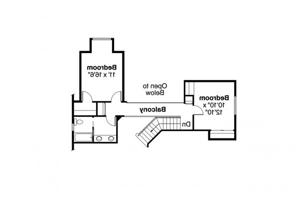 European House Plan - Lafayette 10-156 - 2nd Floor Plan