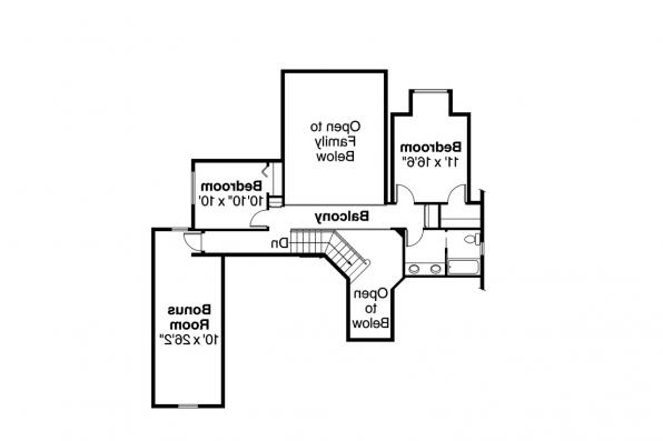 European House Plan - Lakeside 10-551 - 2nd Floor Plan