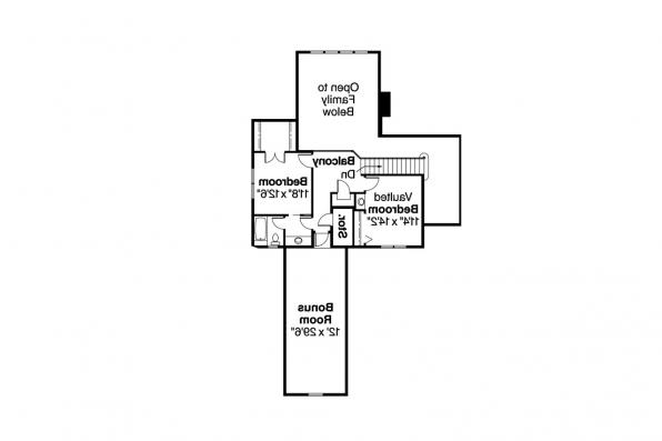 European House Plan - Marcellus 10-301 - 2nd Floor Plan